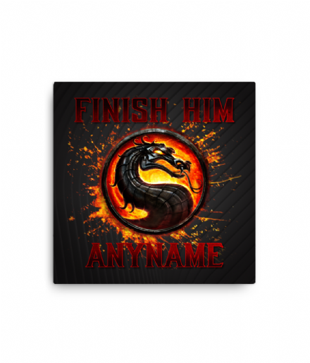 Finish Him Mortal Kombat Design Personalised Canvas Print